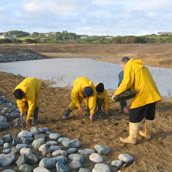 King Island Currie - Local Community involved in construction